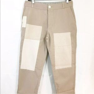 Standard James Perse Straight Leg Patch Crop Pants